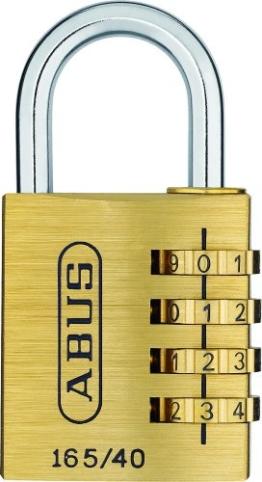 ABUS 20128 Messing Zahlenschloss165/40SB Größe: 40 mm - 1