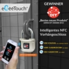 eGeeTouch Intelligentes NFC Vorhängeschloss - elektronisches Smart Lock, Sieger der CES, Zugriff über eigenes NFC-Smartphone - 1