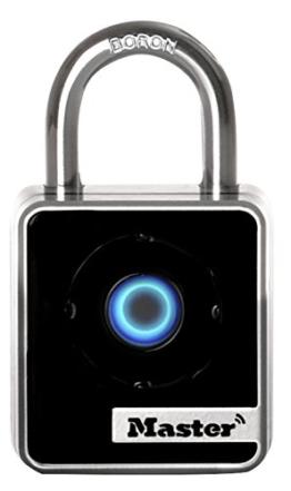 Master Lock Connected Bluetooth Smart Vorhängeschloss für den Gebrauch in Innenräumen, grau, 4400EURD - 1