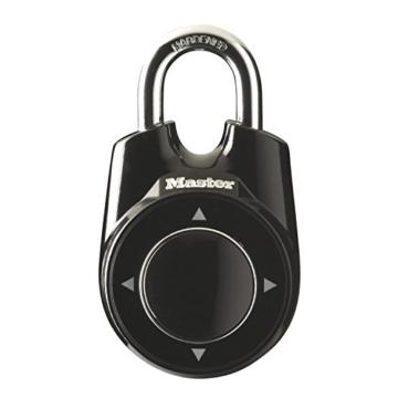 Master Lock Stahlkabel Vorhängeschloss ONE, Schwarz, FA003550808