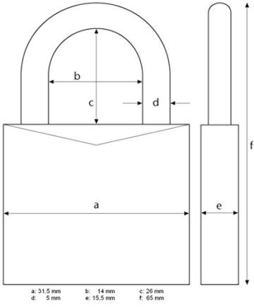 ABUS 466229 Vorhangschloss 145/30 titanium
