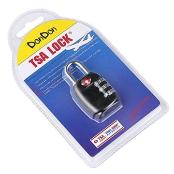 DonDon Reiseschloss TSA Travel Sentry Approved Gepäckschloss